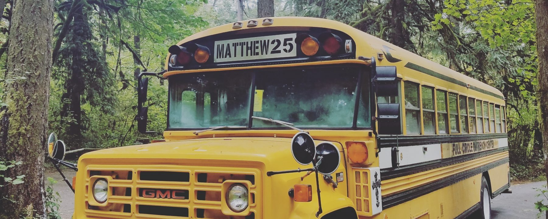 """Love grows in a Blue Bird Bus"""